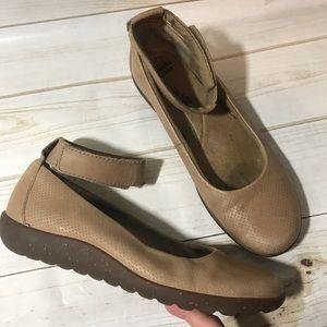 Clark's Collection Medina Ballet Ankle Strap Flats